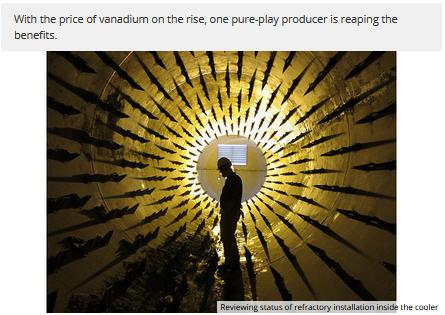 Pure-play vanadium producer's Q3 revenues increase 153% YOY